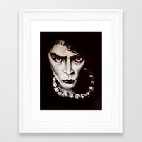 "rocky horror picture show Framed Art Prints featuring Rocky Horror Picture Show ""Sweet Transvestite"" by Kristin Frenzel"
