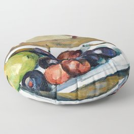 Paul Cézanne - Plate with Fruit and Pot of Preserves Floor Pillow