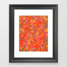 Watercolor Oranges Framed Art Print
