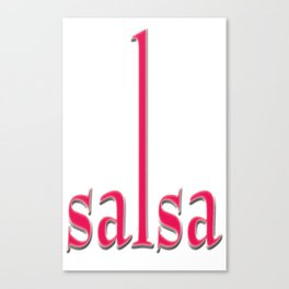 Salsa Maji Magneta Canvas Print