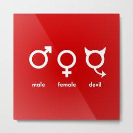 Male Female Devil Metal Print