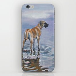 Great Dane Dog Art from an original painting by L.A.Shepard iPhone Skin