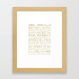 Jonathan Edwards Resolutions Framed Art Print