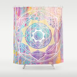 Mixed Media Mandala - Journey Shower Curtain