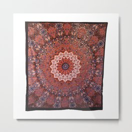Queen Star Mandala Tapestry Decor Art Metal Print