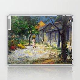 1887 - Gauguin - Village in Martinique (Femmes et Chevre dans le village) Laptop & iPad Skin