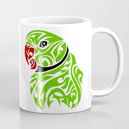 Green ringneck parrot tattoo Coffee Mug
