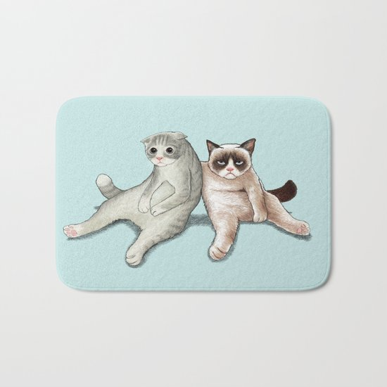 Grumpy Friend Bath Mat