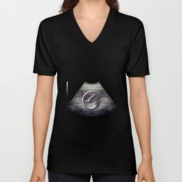 Alien on board - Ultrasound Unisex V-Neck
