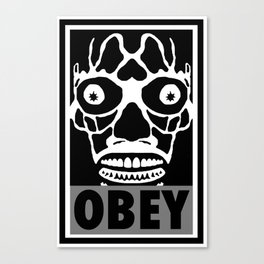 John Carpenter's They Live X OBEY  Canvas Print