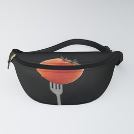 Fork with tomato - black Fanny Pack