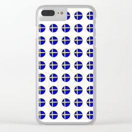 flag of sweden 3 Swedish,Sverige,Swede,Stockholm,Scandinavia,viking,bergman, strindberg Clear iPhone Case
