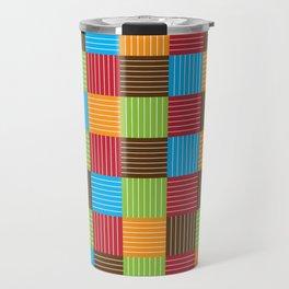 Festive Color Weave Travel Mug