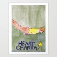 Heart Chakra, Locust Pose Art Print