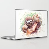 sloth Laptop & iPad Skins featuring Sloth by Olechka