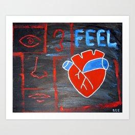 Android heart (black), 2011 Art Print