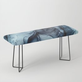 Blush and Darkness Abstract Paintings Bench