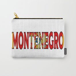 Montenegro Font with Montenegrin Flag Carry-All Pouch