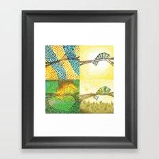 4 Chameleons Framed Art Print