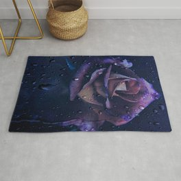Blue,Purple And Lilac Rose Rug