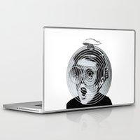 gamer Laptop & iPad Skins featuring anti gamer by KrisLeov