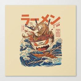 Great Ramen off Kanagawa Canvas Print