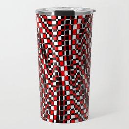 black white red 4 Travel Mug