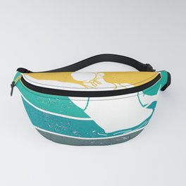 Water Polo Player Vintage Wopo Waterfootball Fanny Pack