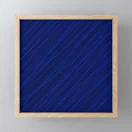 Royal ornament of their dark threads and blue intersecting fibers. Framed Mini Art Print
