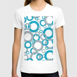 AI Aqua 098-59-30 Coloro 2021 Color Of the Year and Good Gray 122-66-02 Funky Geometric Rings T-shirt