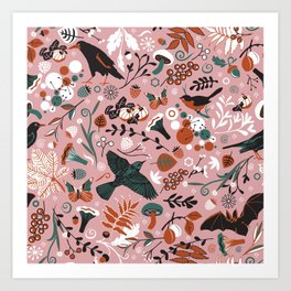 October birds Art Print