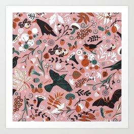 October birds Art Print