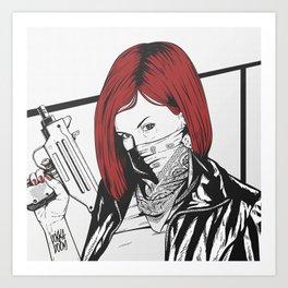 Redheads do it better ;) Art Print