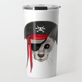 Meow Matey - Fearless Hairless Pirate Cat Travel Mug
