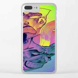 Gemini Blurred lines Clear iPhone Case