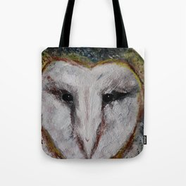 Barn Owl Impressionist Fine Art Tote Bag