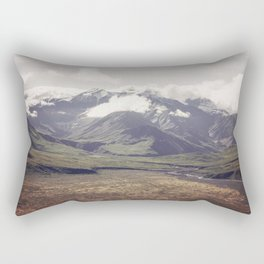 Alaska Snow-Capped Mountain Landscape Rectangular Pillow