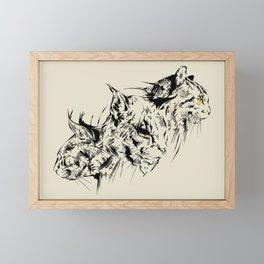 Cats Tattoo Framed Mini Art Print