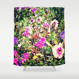 Morning Glory Extravaganza Shower Curtain