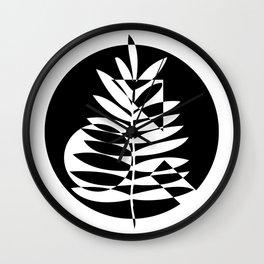 Geometric leaf - 2 Wall Clock