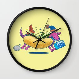 Chicago Dog: Lunch Pail Wall Clock