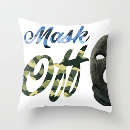 MaskOFF! Throw Pillow