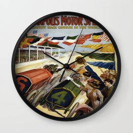 Vintage poster - Indianapolis Motor Speedway Wall Clock