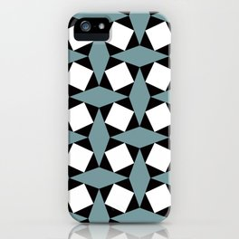 Geometric Pattern #188 (gray squares) iPhone Case