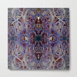 Skulls Purple Rouge Metal Print