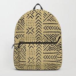 Line Mud Cloth // Tan Backpack