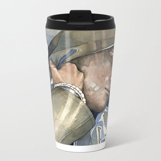Dreams of freedom II, watercolor Metal Travel Mug