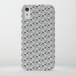 Braaains (black on grey) iPhone Case