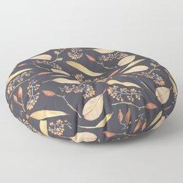Rustic gray brown Autumn colors floral Floor Pillow