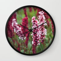 norway Wall Clocks featuring Norway I by Cynthia del Rio